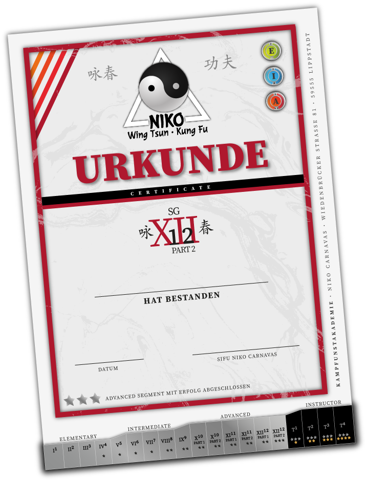 Urkunde Grad Advanced